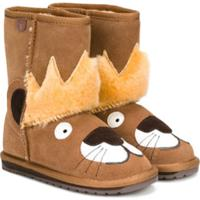 Emu Kids Ankle Boot De Camurça - Marrom