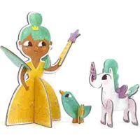 Quebra Cabeça 3D Personagens Princesas Krooom Amarelo