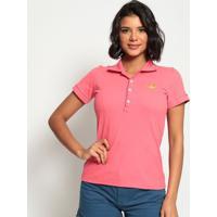 Polo Lisa Com Bordado- Pink- Club Polo Collectionclub Polo Collection