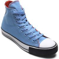 Tênis Converse All Star Chuck Taylor Hi Masculino - Masculino-Azul+Preto