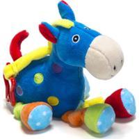 Chocalho De Pelucia Unik Toys Cavalo Azul