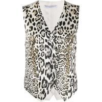 Ermanno Scervino V-Neck Leopard-Print Waistcoat - Neutro
