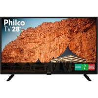 Tv Philco 28 Polegadas Led Hd Ptv28G50D Com Conversor Digital Integrado Preta Bivolt