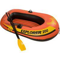 Bote Inflável Explorer 200 (Acessórios) Laranja E Preto 58331 Intex