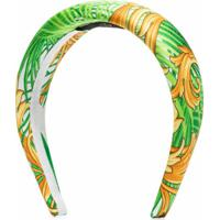 Versace Headband Com Estampa Jungle Baroque - Verde