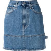 Helmut Lang Saia Jeans Slim - Azul