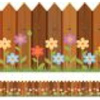 Faixa De Parede Adesiva Infantil Cerca Primavera 3Mx15Cm