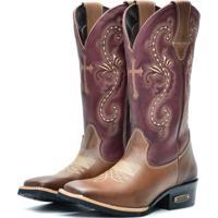 Bota Texana Ec Shoes Marrom