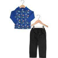 Conjunto 2Pçs Fakini Longo Infantil Azul