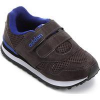 Tênis Infantil Addan Velcro - Masculino-Chumbo+Azul