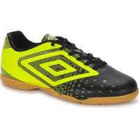 Chuteira Futsal Masculina Umbro Flux - Pto/Amarelo