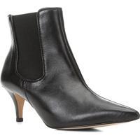 Bota Chelsea Shoestock Couro Salto Fino Feminina