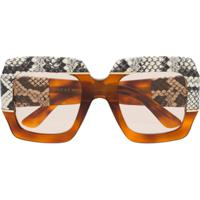 Gucci Eyewear Oversized Sunglasses - Marrom