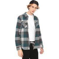 Camisa Vans Reta Box Trekking Verde/Cinza