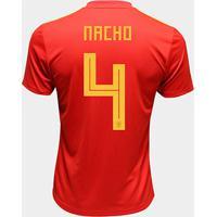 Camisa Seleção Espanha Away 2018 N° 4 Nacho - Torcedor Adidas Masculina - Masculino