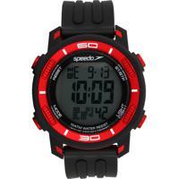Relógio Speedo 80603G0Evnp1 Preto/Vermelho