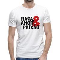 Camiseta Flamengo Raça- Amor E Paixão Masculina - Masculino