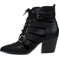 Bota John Doe Cut Out Boot Preta