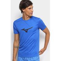 Camiseta Mizuno Run Spark Masculina - Masculino-Azul+Preto
