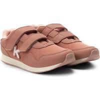 Tênis Infantil Klin Walk Velcro - Feminino-Ouro Rosa
