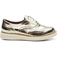 Sapato Oxford Q&A Spechio Light Feminino - Feminino-Ouro Velho