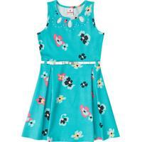 Vestido Floral - Azul Claro & Rosabrandili