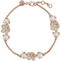 Shaun Leane Bracelete Cherry Blossom Com Pérolas E Diamantes - Dourado