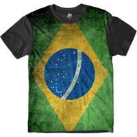 Camiseta Bsc Bandeira Brasil Sublimada Masculina - Masculino