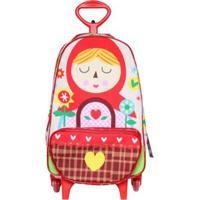 Mochila Bebê Ó Design Chapeuzinho Vermelho Feminina - Feminino-Vermelho