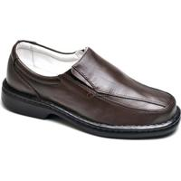 Sapato Confort Top Franca Shoes Masculino - Masculino-Café