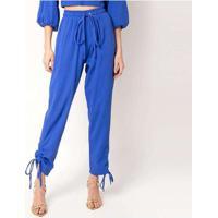 Calça Malha Elora Textura Feminina Azul