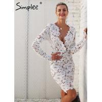 Vestido Vintage De Renda Floral Simplee - Branco