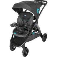 Carrinho De Bebê Passeio Duplo Chicco Strollin2 Octane Reclinável 2 Posições - Unissex-Preto+Azul