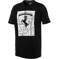 59551b43d8486 ... Camiseta Puma Ferrari Big Shield I Masculina - Masculino-Preto