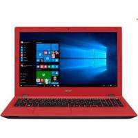 """Notebook Acer E5-574-307M - Intel Core I3-6100U - Ram 4Gb - Hd 1Tb - Led 15.6"""" - Windows 10 - Vermelho"""
