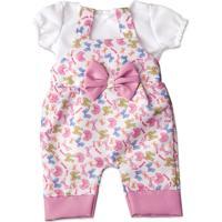 Jardineira Com Lacinhos Para Boneca Little Mommy - Laço De Fita - Feminino-Incolor