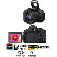 "Câmera Digital Canon Eos Rebel T5I 18Mp - Lcd Móvel E Touch De 3"", Com Flash Embutido, Zoom Óptico 3X, Lente Ef-S 18-55Mm Is Stm E Vídeo Full Hd"