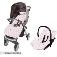 Capa Para Beb㪠Conforto Estampada- Rosa Claro & Rosapapi