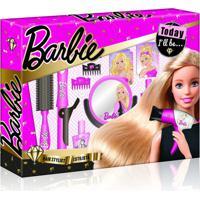 Barbie Hairstylist Babyliss Com Acessórios De Beleza Material Plástico Indicado Para +3 Anos Rosa Multikids - Br813 - Padrão