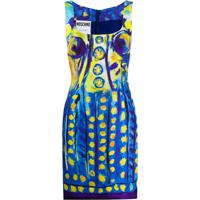 Moschino Vestido Com Estampa De Pintura - Azul
