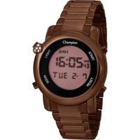 Relógio Champion Digital Ch48126O Feminino - Feminino-Marrom