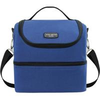 Bolsa Térmica Gg- Azul & Preta- 28X27X22,5Cm- Jajacki Design