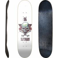 Shape Fibra De Carbono Dng Skateboards Urban Skull Branco
