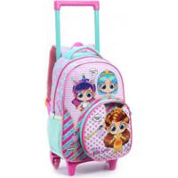 Mochila Infantil Com Rodas Seanite Little Girls