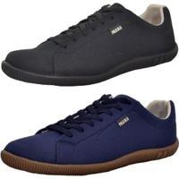 Kit 2 Pares De Sapatênis Top Franca Shoes Casual Masculino - Masculino-Azul+Preto