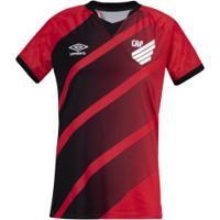 Camisa Do Athletico-Pr I 2020 Umbro - Feminina - Vermelho/Preto