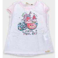 Blusa Infantil Le Petit Kukie Comidinhas Rosa