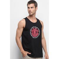 Camiseta Regata Element Seal Masculina - Masculino-Preto