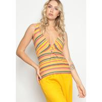 Blusa Listrada- Amarela Verde- Colccicolcci