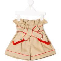 Stella Jean Kids Short Com Amarração No Cintura - Neutro